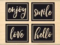 {Pur éclat}Tampon bois LOVE AND SMILE - Florilèges