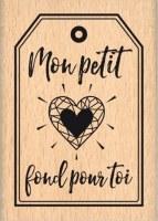 {Pur éclat}Tampon bois MON PETIT COEUR - Florilèges