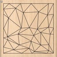 {Pur éclat}Tampon bois CARRE STRUCTURE - Florilèges