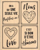 {Pur éclat}Tampon bois PROFITONS-EN! - Florilèges