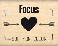 {Instants selfie}Tampon bois FOCUS SUR MON COEUR - Florilèges