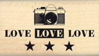 {Instants selfie}Tampon bois TROIS LOVE - Florilèges