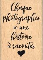 {Instants selfie}Tampon bois HISTOIRE DE PHOTO - Florilèges