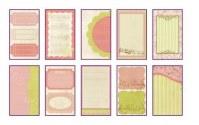 Mini bloc journaling ROSE/VERT - Toga