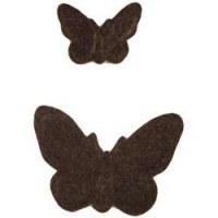 Papillons feutrine marron - Heidi Swapp