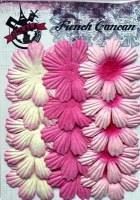 Fleurs plates plissées 8 pétales ROSE - Ohlala