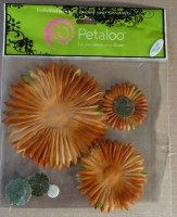 Fleur SUNBURST BROWN/GREEN - Petaloo