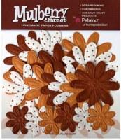 Fleurs EMBOSSED DAISIES Mocha - Petaloo