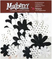 Fleurs EMBOSSED DAISIES Black - Petaloo