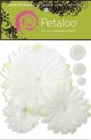 Fleurs GLITTER DAISY PEEL blanches - Petaloo