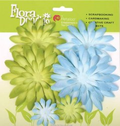 Double delight daisy GREEN/BLUE - Petaloo