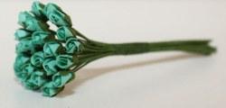 Bouquet 24 MINI ROSEBUD TEAL