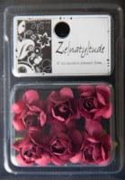 6 fleurs SHABBY BORDEAU - Zenatytude