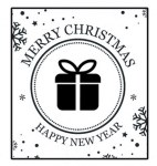 {Joyeux Noël}Tampon clear MERRY CHRISTMAS - Lorelaï design