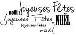 {Joyeux Noël}Tampon clear JOYEUSES FETES - Lorelaï design