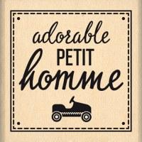 {Capsule janvier 2016}Tampon bois ADORABLE PETIT HOMME - Florilèges