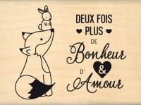{Capsule janvier 2016}Tampon bois PLUS D'AMOUR - Florilèges