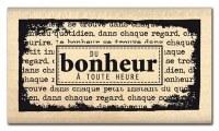 Tampon bois DU BONHEUR A TOUTE HEURE - Florilèges