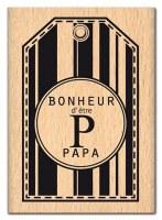 Tampon bois PAPA BONHEUR - Florilèges