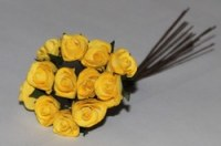 Bouquet 12 roses PAPIER YELLOW