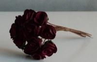 Bouquet 12 roses papier - BURGUNDY