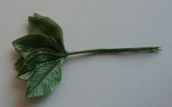 Bouquet 12 feuilles tissu - GREEN