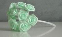 Bouquet 12 roses tissu - MINT