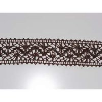 Ruban crochet large marron - May arts