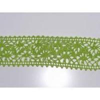 Ruban crochet large vert - Mays arts