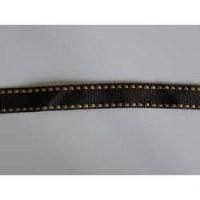Ruban grosgrain marron/couture gold - May arts