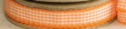Ruban scallop gingham orange