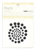 Demi perles autocollantes BLACK - Kaisercraft