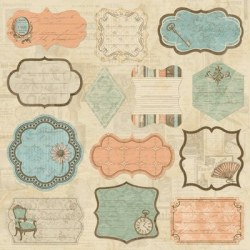 Journaling patches GRANDMA'S ATTIC - Paper company