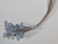 Bouquet 12 branches perlées BLUE