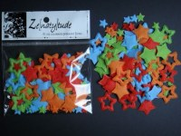 100 étoiles papier ROUGE/VERT/ORANGE/BLEU - Zenatytude
