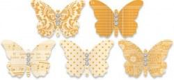 Embellissements papillons ORANGE - Jenni Bowlin