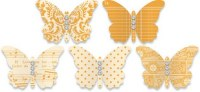 Embellissements papillons ORANGE - Jenni Bowlin
