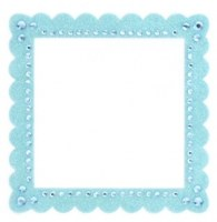 Glitter bling frame BLUE - Making memories