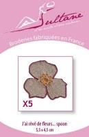 5 broderies fleurs spoon