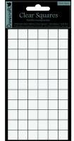 66 pastilles carrées adhésives transparentes