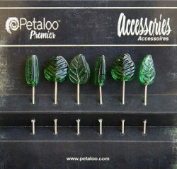 Epingles GLASS ORNAMENTS GREEN - Petaloo
