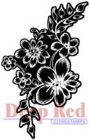 Tampon monté sur mousse VIOLET CHALK FLOWERS - Deep red