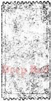 Tampon monté sur mousse GRUNGE TICKET - Deep red