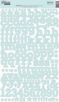 Stickers alphabet cardstock BOILED BLUE - Jillibean