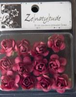 12 fleurs SHABBY BORDEAU - Zenatytude