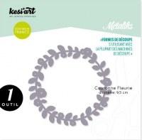Forme de découpe (die) - Métaliks COURONNE FLEURIE - Kesi'art