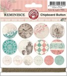 Chipboards boutons REMINISCE - Ruby rock it