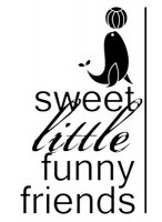 {Little winter circus}Tampon clear SWEET FUNNY FRIENDS - Pandore