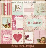 {Vintage valentine}Cards (kraft) - Fancy Pants