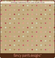 {Vintage valentine}Pure love (kraft) - Fancy pants